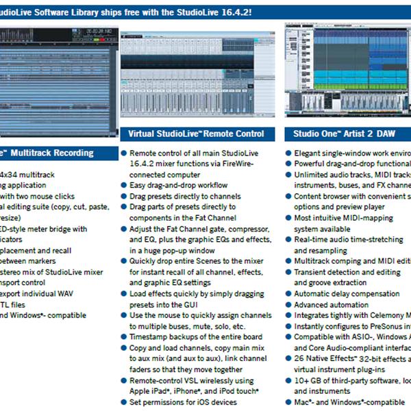 Morgan Sound, Inc  - Presonus StudioLive 16 4 2 Digital Mixing