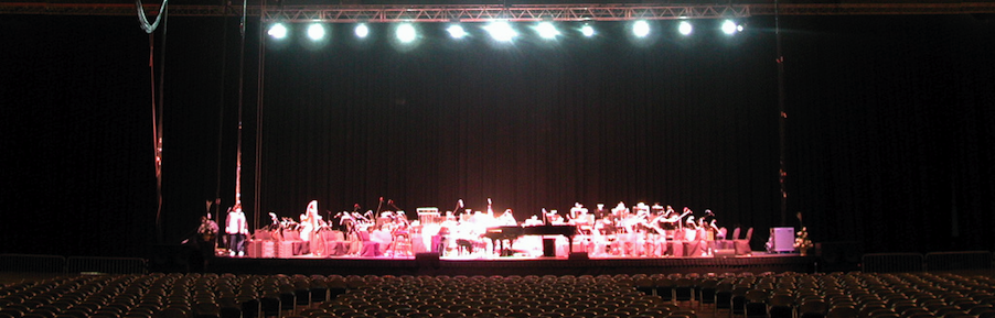 ray charles stage with orchestra